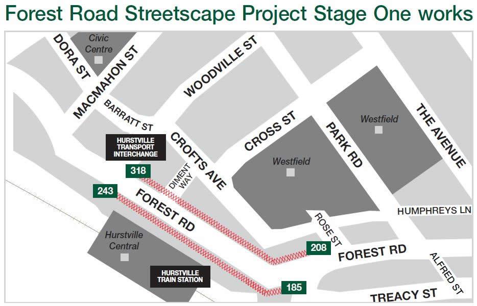 forest road paving upgrade hurstville