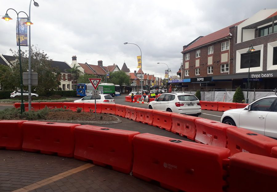 military road streetscape upgrade civil works mosman