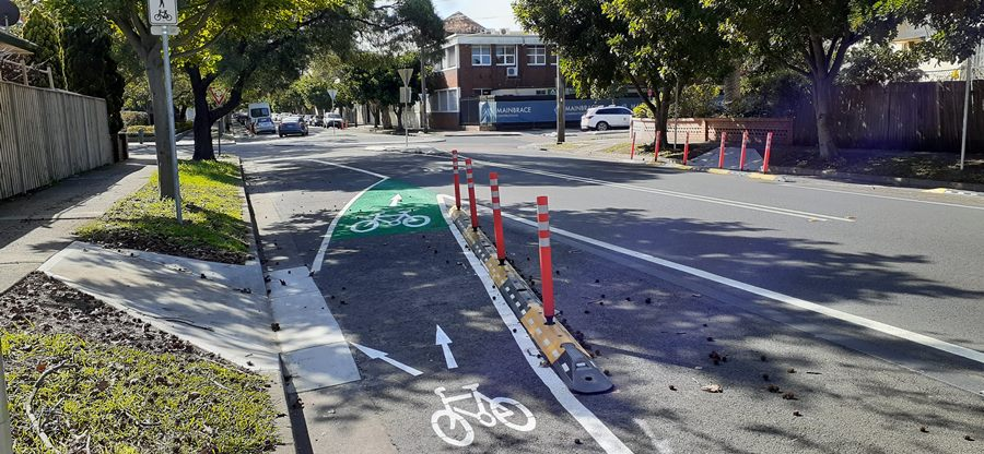 tactical pop up cycleways